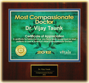 2012 Vitals Most Compasionate Doctor Award